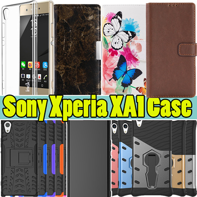 best cheap 12a76 3ed04 Sony Xperia XA1 Plus Case Hard Armor Back Cover Case TPU leather wallet  case for Sony Xperia XA1 XA
