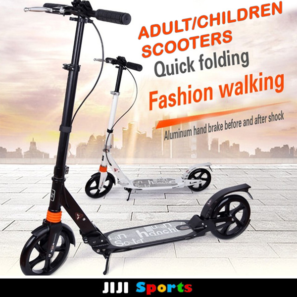 ? 2018 Upgrade Version!? Adult / Children Kick Scooter Sun Color Adjustable Kids Foldable scooters Deals for only S$40 instead of S$0