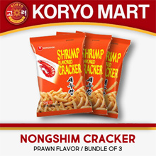 Korean Prawn Crackers bundle of 3