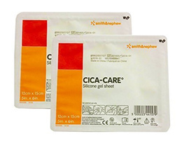 Smith & Nephew CICA Care Silicone Gel Sheeting 5 x 6 Inch, Sterile 2 Packs