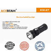 Acebeam K30-GT Long Throw LED Flashlight