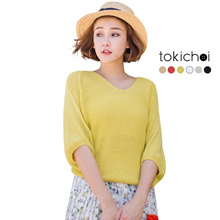TOKICHOI - Knitted V-Neck Sweater-180375
