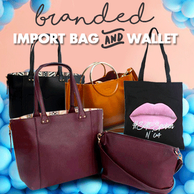[PROMO NEW COLLECTION] Branded Import Bags Wallets Pouches Deals for only Rp45.000 instead of Rp45.000