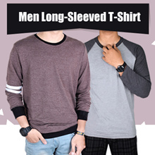 New - Unisex Long Sleeve T-shirt - Raglan Shirt - 50 color