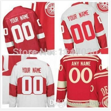 Free shipping Customized   Custom Detroit Red Wings Jerseys Personalized  Stitched Ice Hockey Jerseys 0b5023e8ded