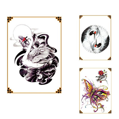 253c6cf36 1x DIY Body Art Temporary Tattoo Colorful Animals Watercolor Painting  Drawing Horse Butterfly Decal