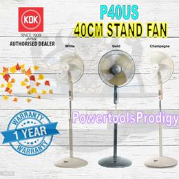 KDK 40CM STAND FAN P40US / 16 INCH STAND FAN / METAL BLADE ROUND BASE / 1 YEAR WARRANTY BY KDK