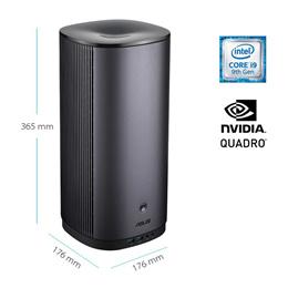 ASUS MiniPC ProArt PA90 9th Gen Intel Core i7-9700K 16GB 256GB M.2 SSD (PCIe) Quadro P2000 W10 Pro