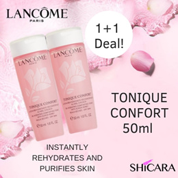 [1 + 1 Deal] Lancome Tonique Confort  Re-Hydrating Comforting Toner with Acacia Honey 50ml