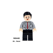 store Single Sale Super Heroes Star Wars 440 Mr. Bean Model Mini Building Blocks Figure Bricks Toy k