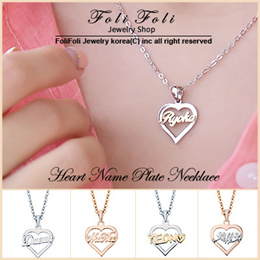 ♥2018 Nov update♥ Handcrafted Heart Name Necklace from Korea- Special Carving Service