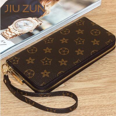 3e8106b3 Bag wallet Womens long zipper handbag mens wallet couple bills money clip le