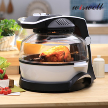 [2015 NEW wiswell i-COOK Air Oven]Lightwave Oven+360˚ Rotation+Food Dehydrator+Air fryer/Home made Dry Food BBQ Steamer Halogen heating Far Infrared Cooking Various cuisine/Easy to clean