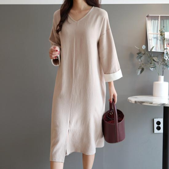 ガールズデイリーベニアン配色ワンピース 綿ワンピース/ 韓国ファッション