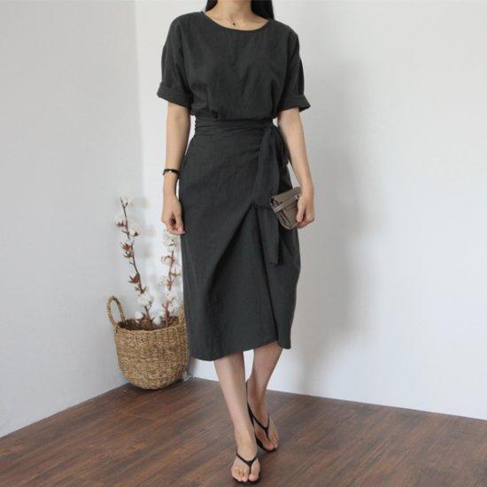 ラベルルームジャノビーラップワンピース 綿ワンピース/ 韓国ファッション