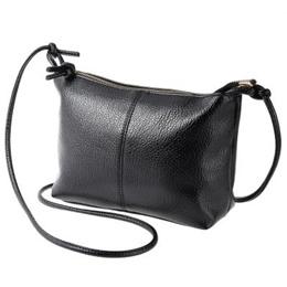 Vintage Solid Color Zipper Multi Functional Shoulder Cross Body Bag for Ladies