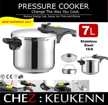 Dual Pressure Setting Range Top Pressure Cooker High Quality S/S 304 (18/8) Triple Layered Bottom