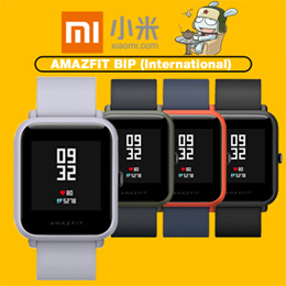 Xiaomi Huami AMAZFIT BIP International Version [Black- One Year Singapore Warranty]