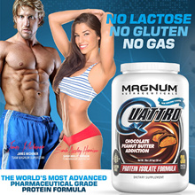 【PROTEIN SALE】[MAGNUM] QUATTRO 4 TYPES 100% WHEY ISOLATE PROTEIN PHARMACEUTICAL GRADE GREAT TASTING