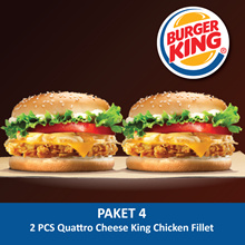 [FOOD] 2 pcs Quattro Cheese King Chicken Fillet /Burger King