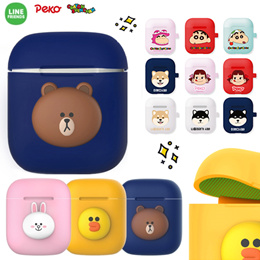 ★Authentic★Line Frinends+Crayon Shinchan Airpods Case+Iron powder prevention skin/ Hang Case