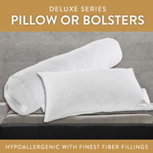 [Deluxe] Hypoallergenic Luxury Pillow or Bolsters / Finest fiber fillings