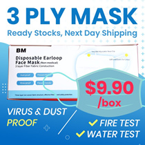 FLAT PRICE ⚡$9.90⚡ ! ★3 Ply Mask★ | Next day Shipping | Local Seller  | PASSED ALL TEST