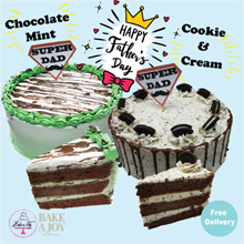 [BAKE A JOY]  ❤ Chocolate cake with mint and cookie and cream ❤ Father day promotion!!!