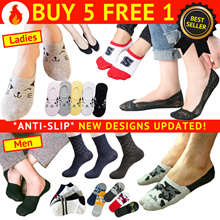 🥇SG TOP SELLER【BUY 5 GET 1 FREE】【MEN/WOMEN/KIDS SOCKS】BOAT/BAMBOO/COTTON/LACE Invisible Ankle