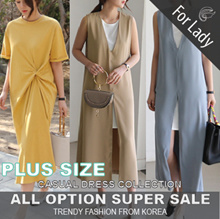 18th Aug Update New Arrivals ♥Korean Style♥ Linen / Casual Dress / LOOSE Fit  / Basic / Plus Size