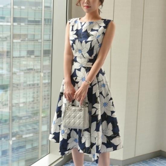 悪女日記】リエンナワンピース プリントのワンピース/ 韓国ファッション
