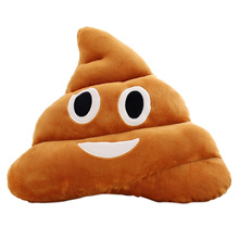 New 5 Types Mini Emoji Pillow Cushion Poop Shape Pillow Doll Toy Throw Pillow Amusing emotion Poo Cu