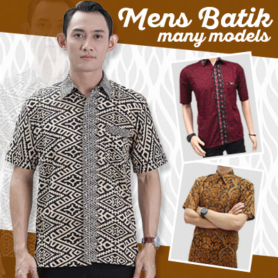 Kemeja Batik Pria Collections 2 Deals for only Rp55.000 instead of Rp55.000
