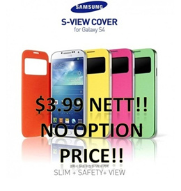 [$3.99 No Option Price CLEARANCE SALE!!]Samsung Galaxy S4 S-View Cover