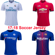 17/18 Soccer Jersey Men Women Kids Manchester United Barlcelona Real Madrid PSG Football Shirts