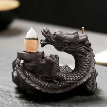 Incense Burner Backflow Smoke Flow Holder Ceramics Tower Incense Cones Burner Statue Figurine Art Cr