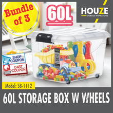 ONLINE EXCLUSIVE ♦ Bundle Of 3 ♦ Storage Boxes Collection ♦ 30L  - 60L Capacity ♦ Strong And Durable