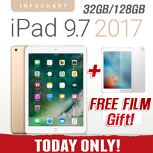 [★LOWEST PRICE!★] New Apple iPad 9.7 Wi-Fi ( 32G / 128G ) | 5th Gen 2017 Model  Retina