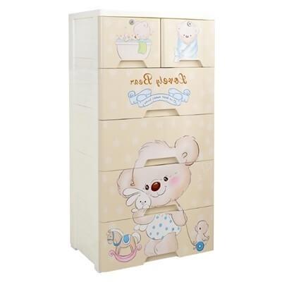 Love Bear Storage Drawer - 5 Tier