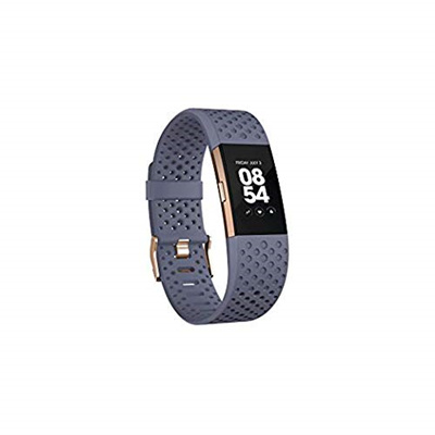 【Direct from USA】 Fitbit Charge 2 Heart Rate + Fitness Wristband, Black,  Large (US Version)