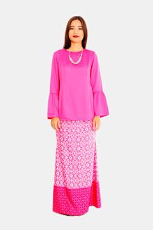 kamdar ladies safila baju kurung-fushia pink
