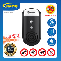 PowerPac Mosquito Killer Ultrasonic insect Repellent Insect Killers with night light (PP306)