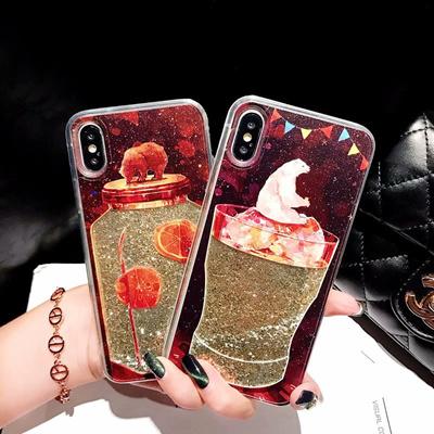 Huawei Nova 2 Lite Nova 2S Glitter Bear hourglass Cover Case