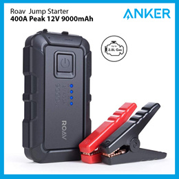 Roav By Anker Car Jump Starter 400A Peak 12V 9000mAh Up To 2.8L Engines Portable Charger Powerbank