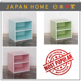 EZ Cube with Shelf / Pale Blue / Light Green / Light Pink / 35 x 29.2 x 35cm
