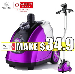 [ABG-HUB] Garment Steamer / Vertical and handheld home steamer iron (SG safety Mark plug)