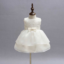 outlet 2019 New Style White Princess Baby Dress Lace Sleeveless Tutu Dress for Birthday Party Dress