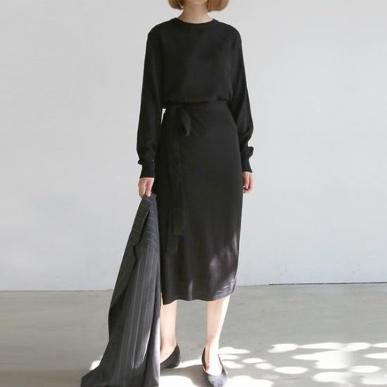 デイリー・マンデーWrap knit onepieceワンピース ニット・ワンピース/ 韓国ファッション