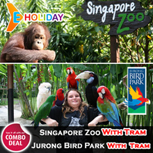 [ E-Holiday ] Singapore Zoo with Tram + Jurong Bird Park with Tram Email delivery 动物园+飞禽公园 门票
