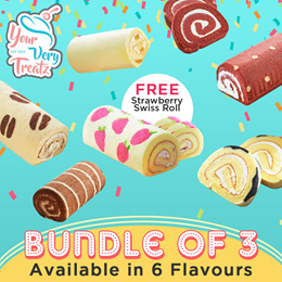 [Your Very Treatz ] Mix and Match Bundle 3 PROMO! (6 Flavours of Swiss Roll Plus Free Strawberry Swi